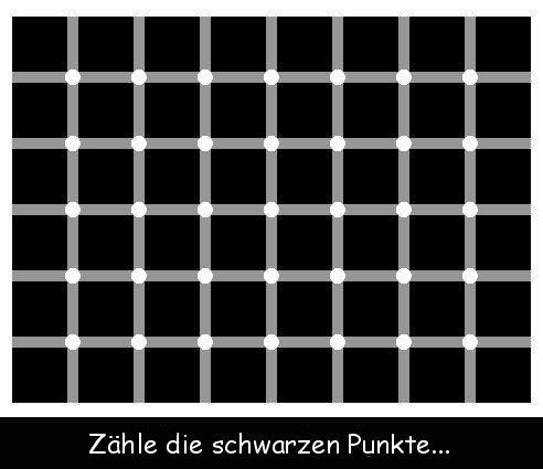 Zähle die schwarzen Punkte