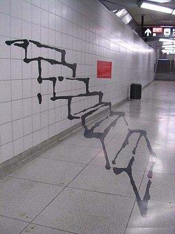 Fiktive Treppe