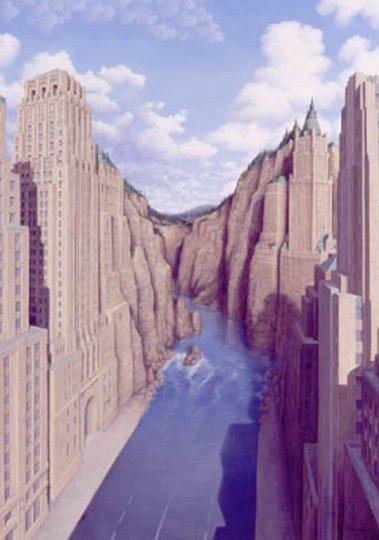 Hochhäuser oder Felsen
