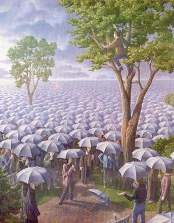 Meer von Regenschirmen...