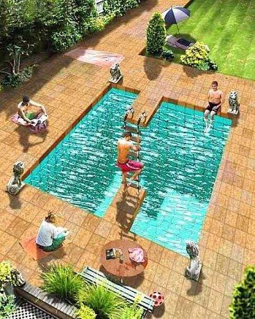 Merkwürdiges Schwimmbad