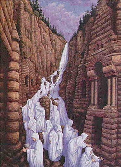 Mönche oder Wasserfall?