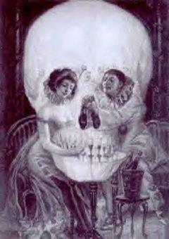 Schädel oder zwei Menschen?
