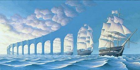 Segelschiff oder Wolken?