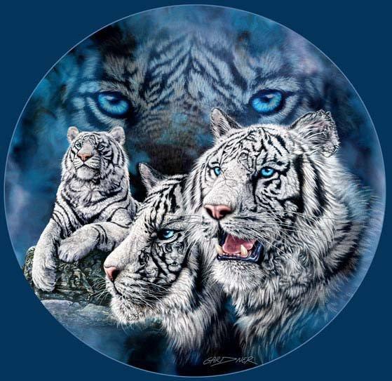 Zähle bitte die Tiger!