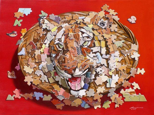 Find einen versteckten Tiger